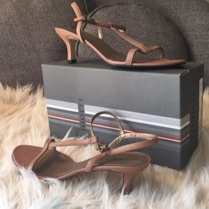 Strappy Nude Vignotti Dressy Sandals. Worn once